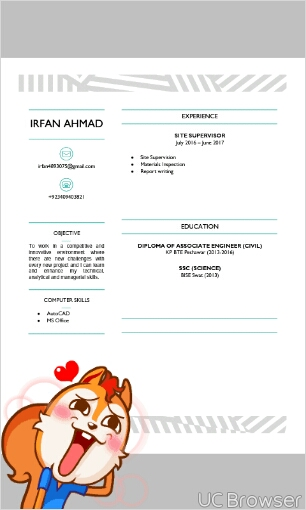 Irfan Ahmad Civil Engineering