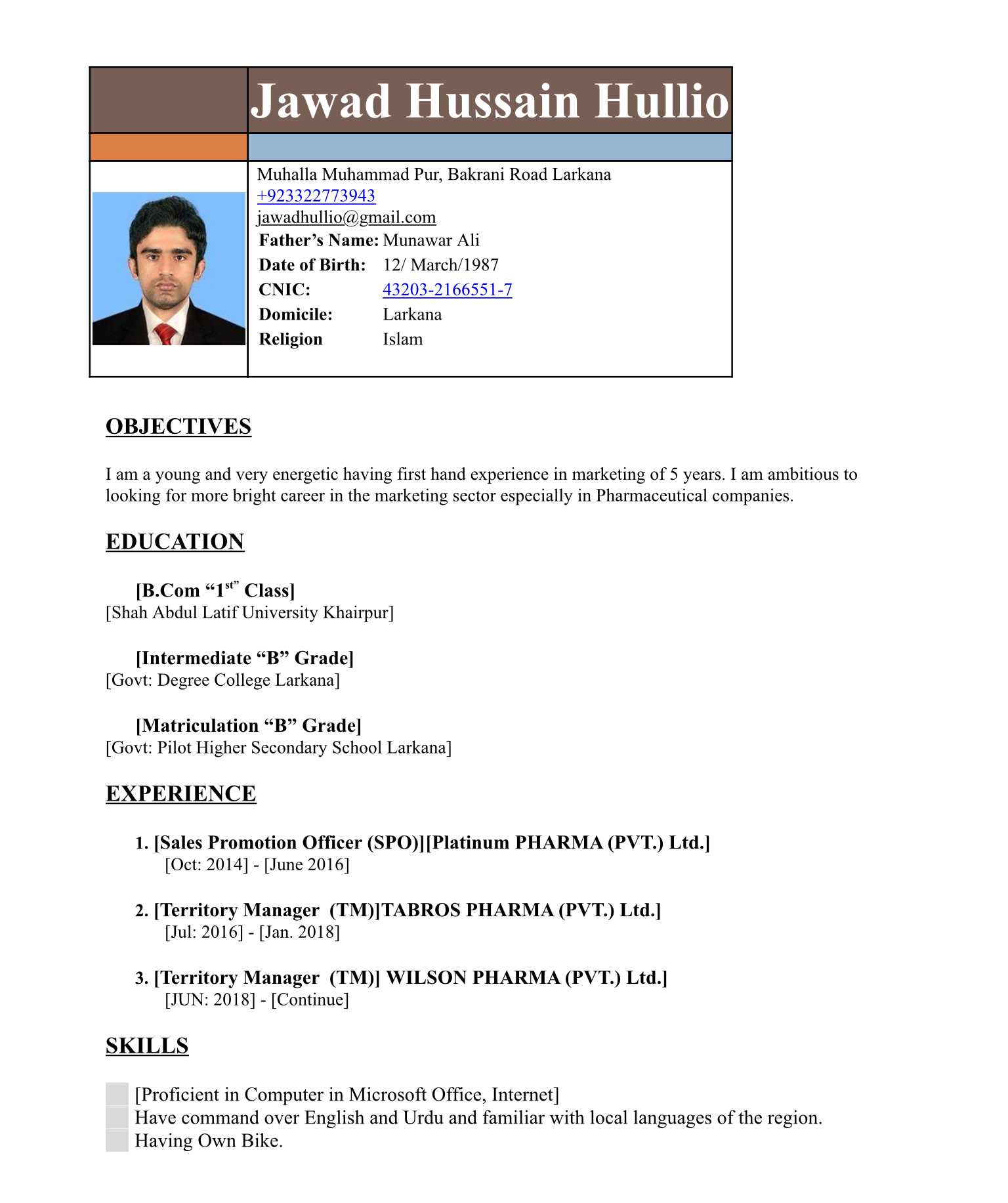 Jawad Hussain Electrical Engineering, IPad, IPhone, Sales, Marketing